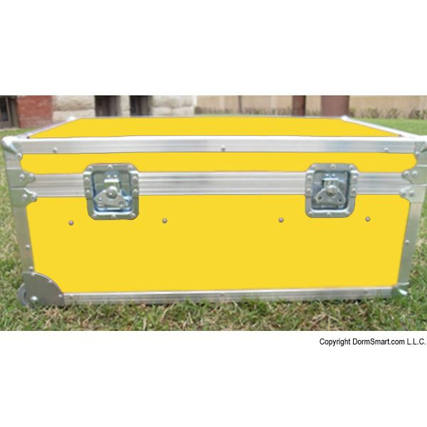 Safari Yellow Large ATA College Footlocker with Recessed Wheels and Tray | FREE SHIPPING