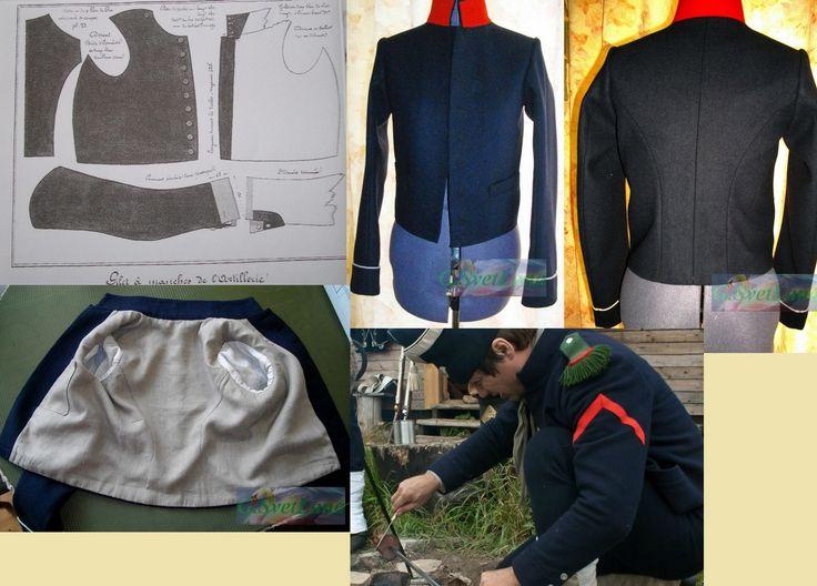 Рабочая куртка-жилет французский армии Наполеона.на начало 19 в. Ручная работа.