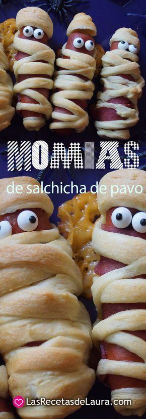 Deliciosas momias de salchicha, perfectas para una riquísima comida para los niños