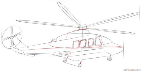 How to draw a helicopter | Step by step Drawing tutorials