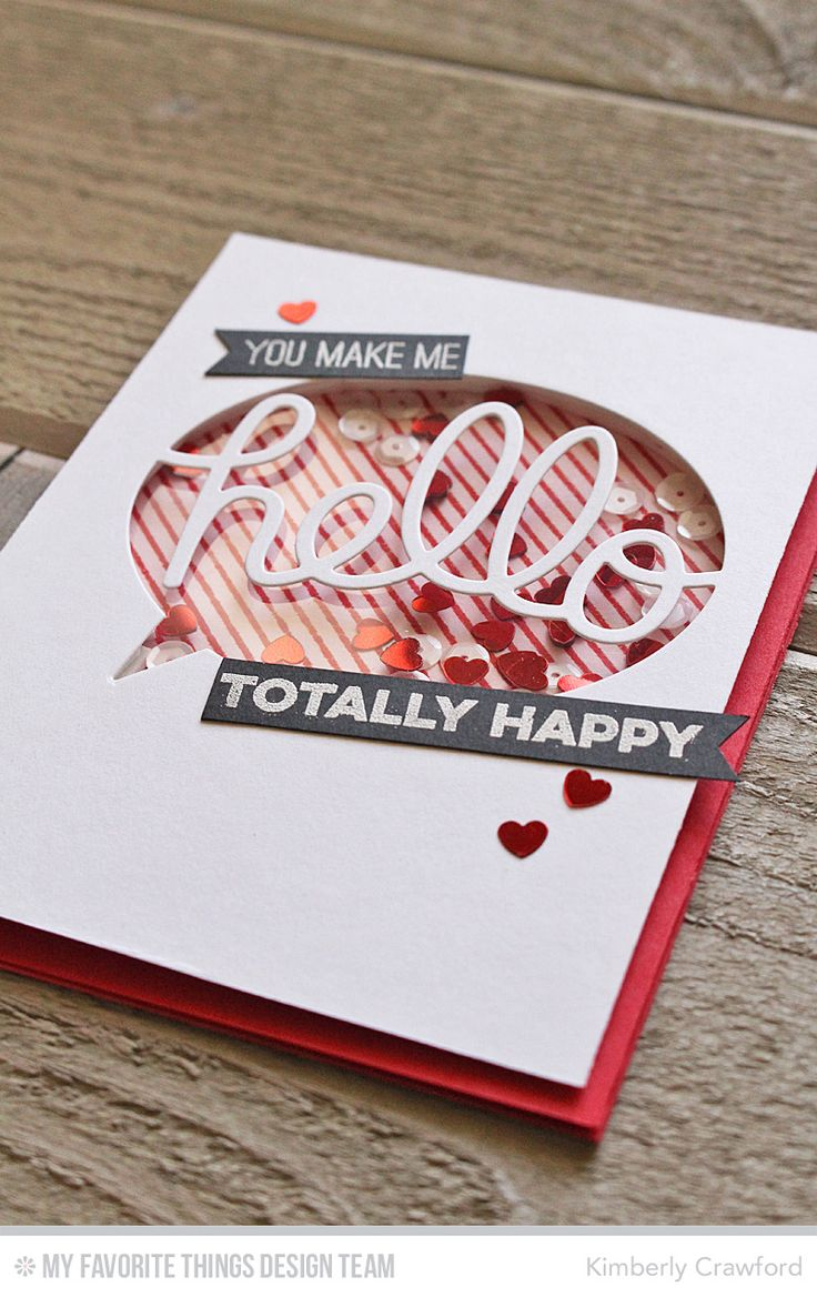 For the Love of Paper: word shaker cards: MFT Shaker Card Week. Video tutorial on using word dies to create a shaker card.