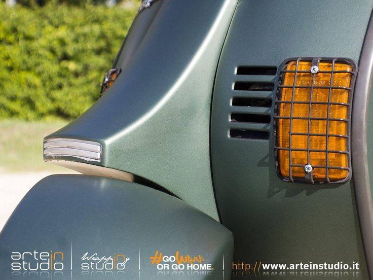 "Vespa Piaggio PK 50 - Wrapping Moto ""Verde Pino Metallizato Opaco"" #vespa #piaggio #vespapk50 #vespapiaggio #wrapping #motowrapping #wrapinstudio #gowraporgohome #arteinstudio #verdeopaco #mattepinegreenmetallic #3m #selfadhesive #ilovewrapping #wrappingvespa #wrappingstudio Foto by Daniele Ferracuti #DANIELEFERRACUTI"