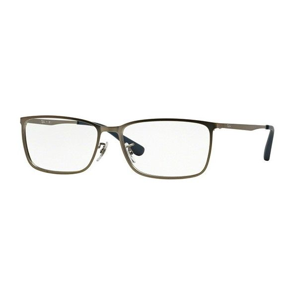 Ray-Ban RX6348D Active Lifestyle Asian Fit 2620 Eyeglasses ($83) ❤ liked on Polyvore featuring men's fashion, men's accessories, men's eyewear, men's eyeglasses, gunmetal grey, ray ban mens eyeglasses, mens eyewear and mens eyeglasses