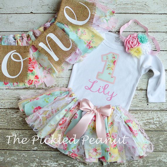 Vintage Baby Tutu Baby Tutu Skirt 1st Birthday by ThePickledPeanut