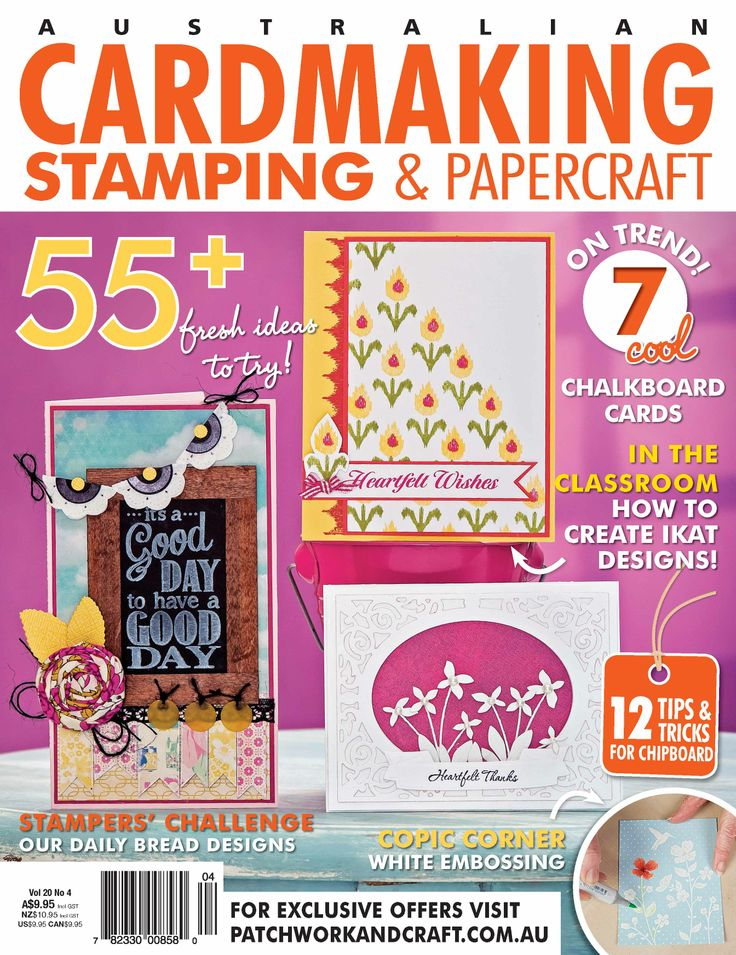 Cardmaking, Stamping & Papercraft - Volume 20 No.4. The leading destination for cards and papercrafts! Magazine Formats Included ePub Format, Mobi Format (Compatible with Amazon Kindle apps), Online Version or PDF Format.