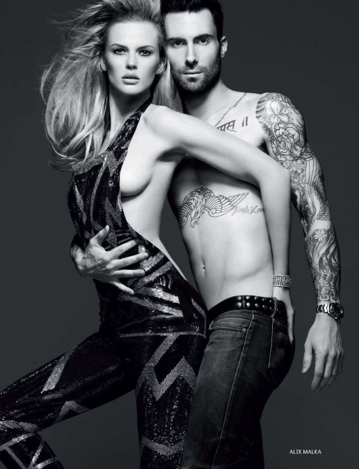 Adam Levine by Alix Malka for Vogue Russia
