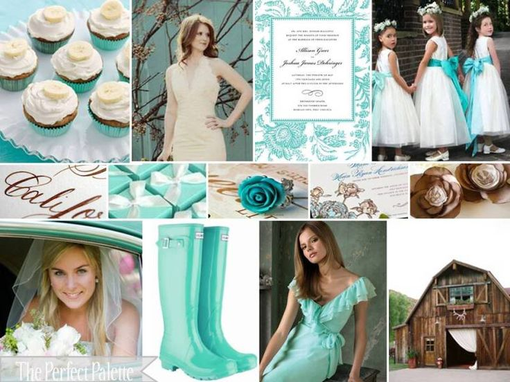 The Perfect Palette: {Barn Chic 'I Do's}: A Palette of Aqua, Chocolate brown, Camel & White