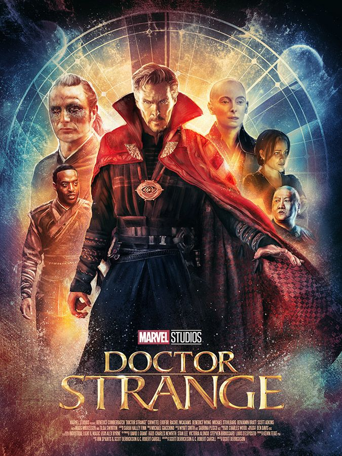 Alternative key art created for Marvel Studios' Doctor Strange. The second piece was created for a Poster Posse tribute to the movie.