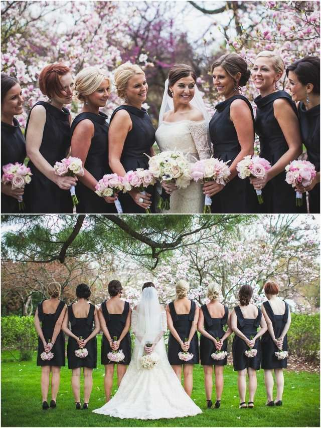 idées de photos originales de la mariée avec les demoiselles d'honneur