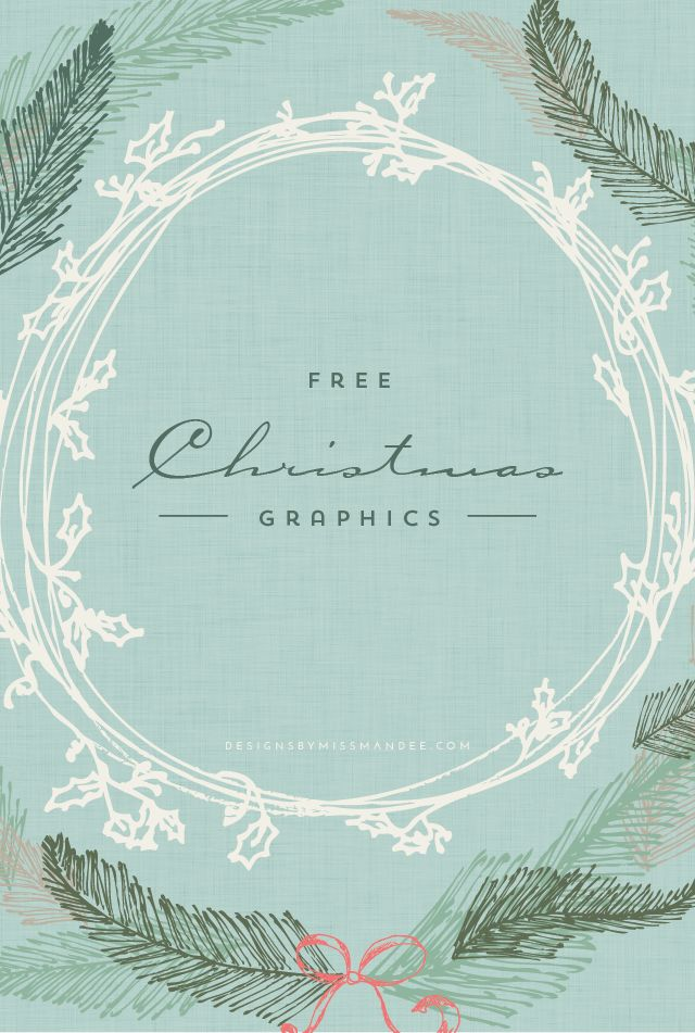 Christmas Design Elements - Designs By Miss Mandee. 9 beautiful graphics for the holiday season. Perfect for Christmas card designs and holiday printables.