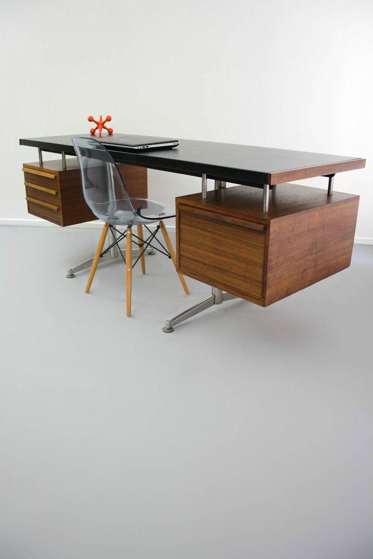 Mid Century Floating Top Designer Desk Table Drawers Vintage Retro Danish Eames Era Vic Ebay 360 Modern Furniture Furniture Ikea Galant Modern Furniture
