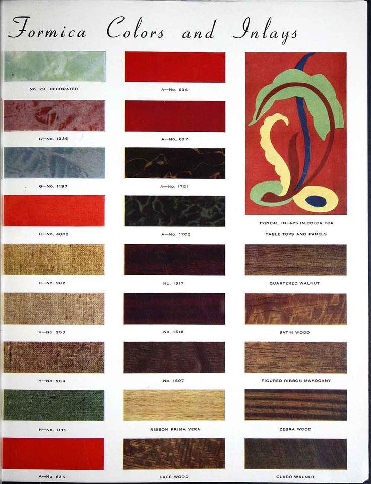 1938 Formica catalog.