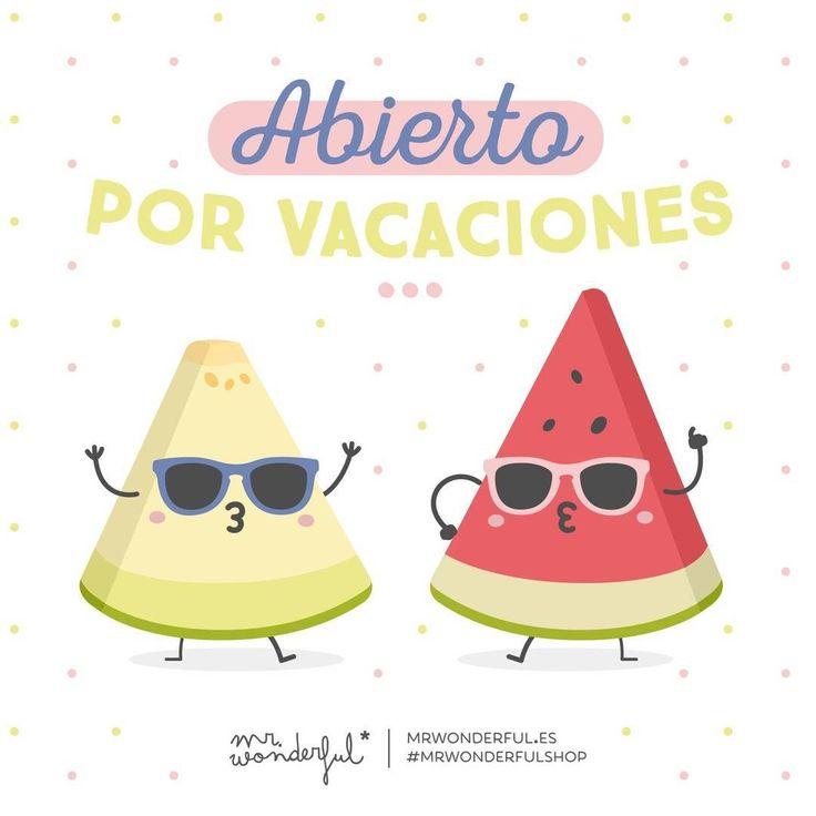 Cachito de sandía o melón y a disfrutar del verano que este año no cerramos por vacaciones #mrwonderfulshop #quotes #design