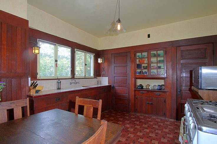 Best Stained Glass Cabinet Doors Design Ideas & Remodel ... |Vintage Arts And Crafts Kitchen