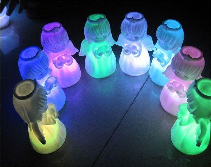 Мини-Милый Угол LED Night light Изменение Цвета Батареи Подарки Гирлянда Лампы для Дома Свадьбы Бар Рождество Luminaria Декор