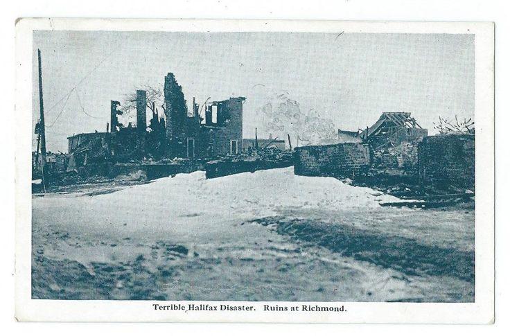 Halifax Disaster Nova Scotia Ruins AT Richmond Explosion 12 06 1917 PUB Novelty   eBay