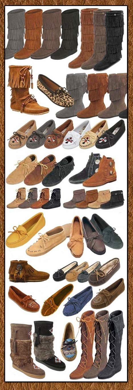 Minnetonka Moccasin Styles From Tribal Impressions- www.indianvillagemall.com