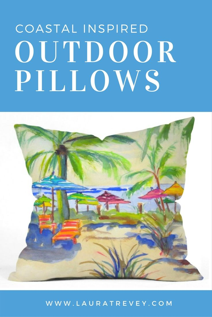 UV Protected and Mildew Resistant - Outdoor Pillows Coastal Inspired