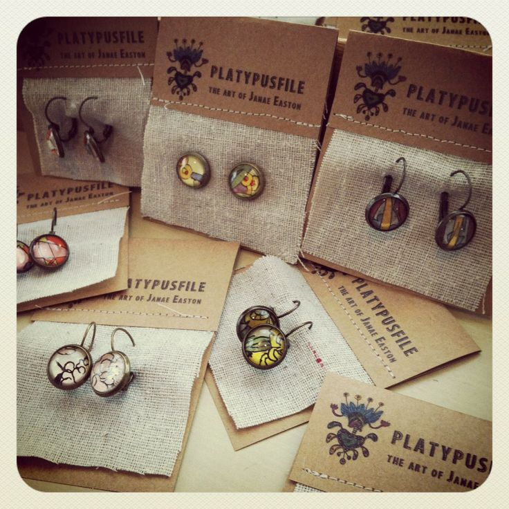 new packaging for earrings -Janae Easton at Platypusfile