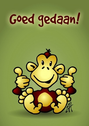 """""""Goed gedaan"""" #kaartje via #SendaSmile http://kaartje.tekenaartje.nl/"""