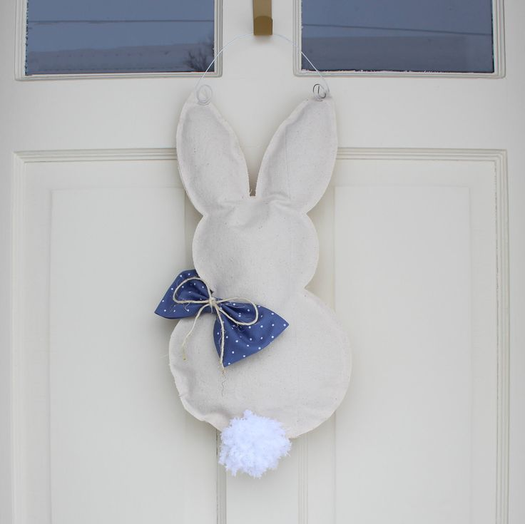 Bunny Türhänger, Ostern Türhänger, Ostern Kranz, Kranz Frühling, Frühling Dekor, Ostern-Dekor