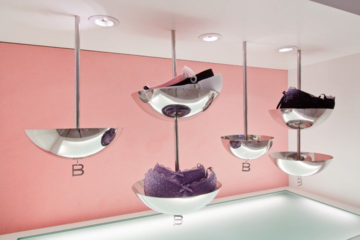 LINGERIE STORES! BUBIES Lingerie Limited flagship store by PplusP Designers, Hong Kong store design