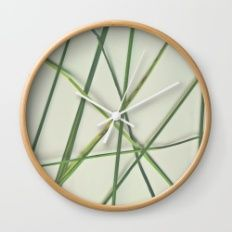 Lines in Nature II Wall Clock