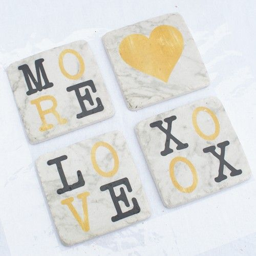 Resin Coaster Set of 4 - Marbel - Products - 1825 interiors
