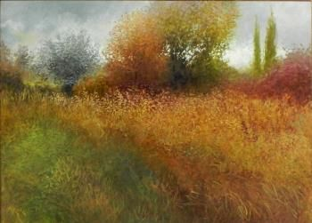 """Marty Ricks, """"Fall Color"""" - Southwest Gallery: Not Just Southwest Art."""