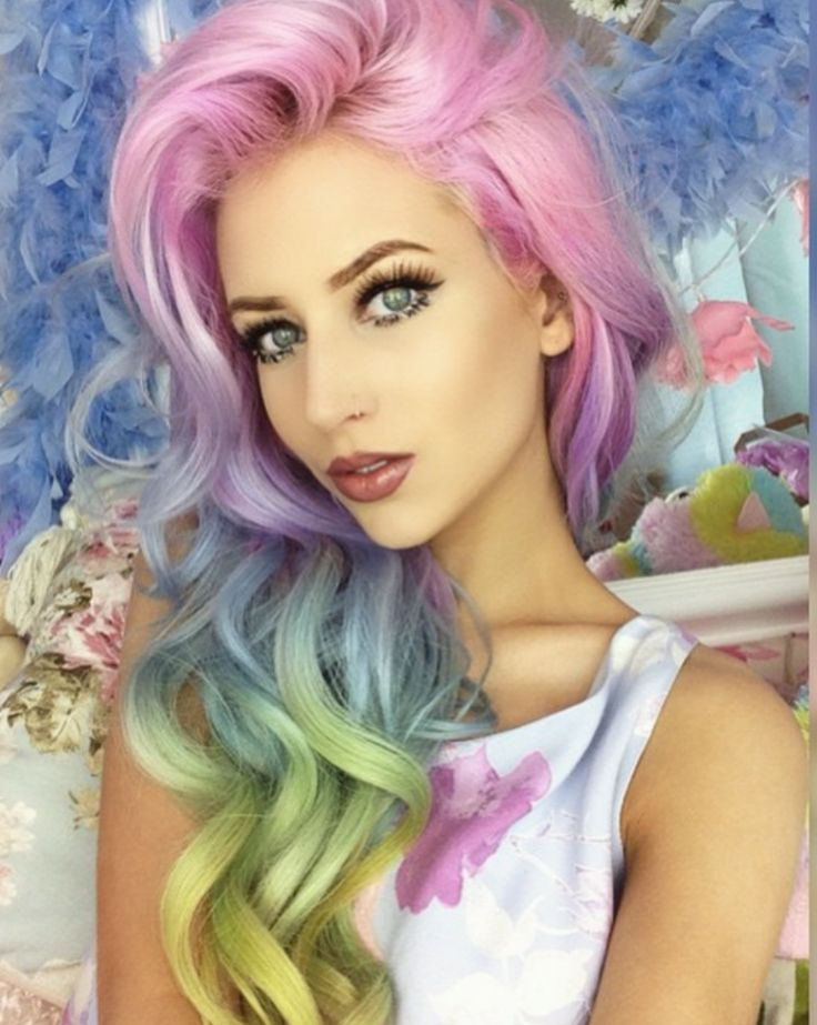 The 25+ best Pastel rainbow hair ideas on Pinterest | Colourful ...