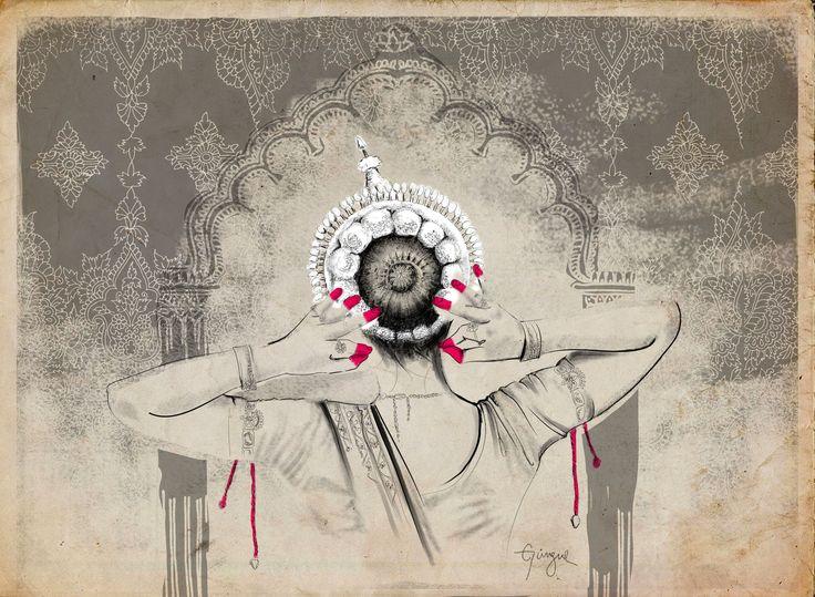 Odissi dancer by Güngur Arts . Illustration: Patricia Salgado #gungur #indian #fine #arts #woodpaper #ilustration #odissi #dancer #indianclassicaldance #indianclassicalart