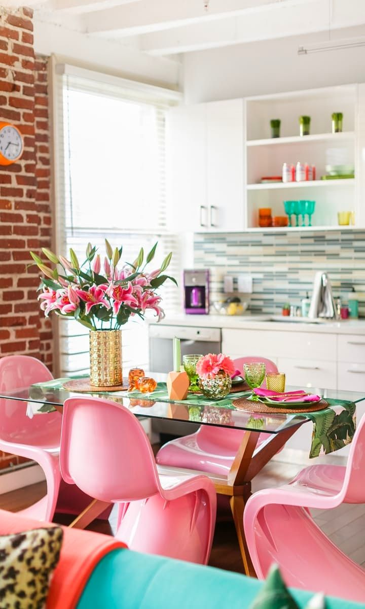 Colorful chairs for living room - Looking For Dining Room Chairs The Panton Chair Is A Surprising Classic Option That Can