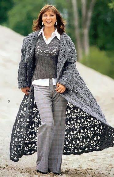 Пальто и куртка-схемы вязания.