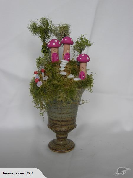 This is an original miniature fairy land designed and made by myself.