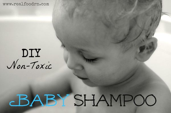 Save some cash and enjoy some peace of mind, DIY Non Toxic Baby Shampoo {RealFoodRN} #DIY #Shampoo