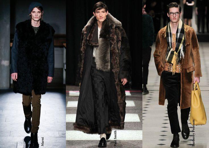FW15 menswear trends / Fur / Férfi divat 2015 ősz tél / Szőrme