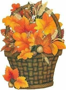 Cestas de flores ~ | Pinterest | Thanksgiving, Clip art ...