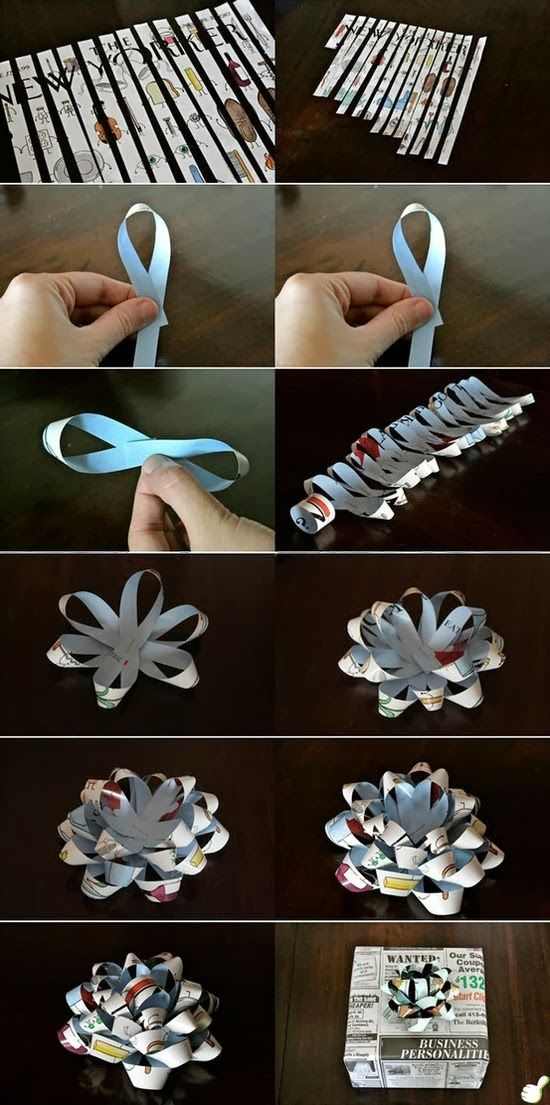 Make a Gift Bow Out of Any Paper.  Store bought looking bow