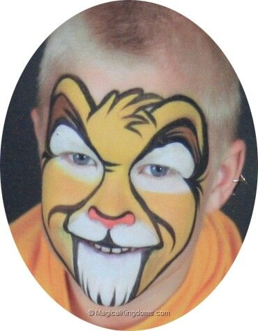 Simba face paint for boys + Face Painting Prices and Pics at Downtown Disney