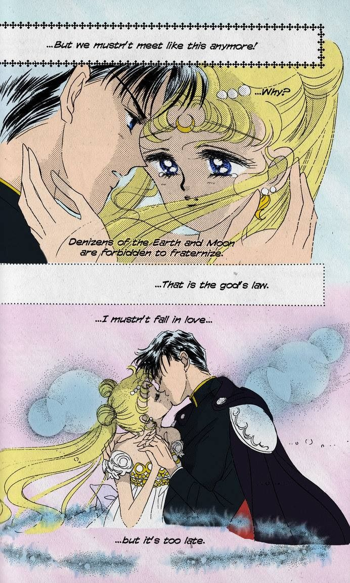 I love the Princess Serenity/Prince Endymion love story. A Romeo and Juliet star-crossed lovers story at its finest.