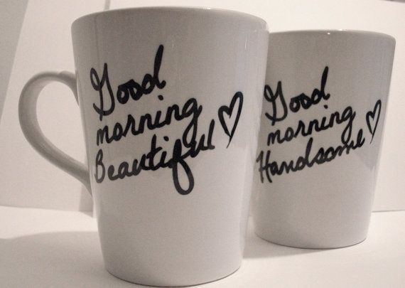 I WANT!: Couple Mugs, Good Mornings, Gifts Ideas, Cute Couple, Anniversaries Gifts, Coffee Cups, Cute Mugs, Coffee Mugs, Wedding Gifts