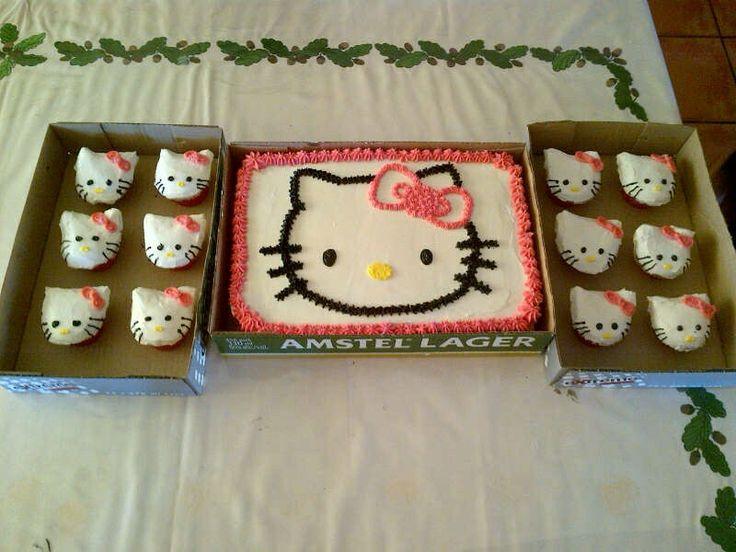 #Beerboxcake#hellokitty#girlsbirthdaycake#hellokittycake#hellokittycupcakes