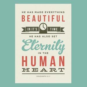 Beautiful. Eternity.