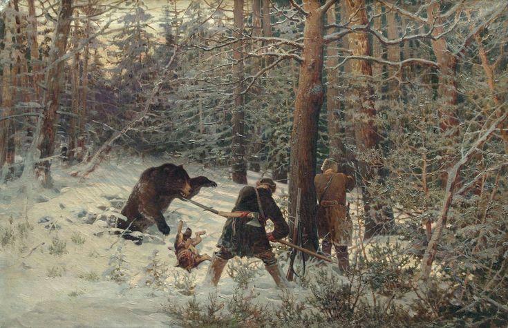The Athenaeum - Bear Hunt (Yevgeny Tikhmenev - )