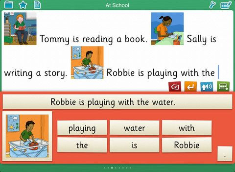 P scales writing app grid for writing