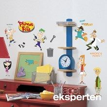 Wallstickers med Phineas & Ferb.
