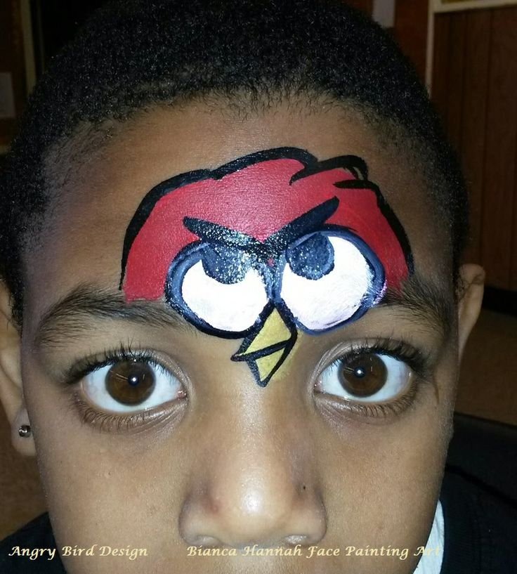 Angry Bird Design by Bianca Hannah Face Painting Art ...