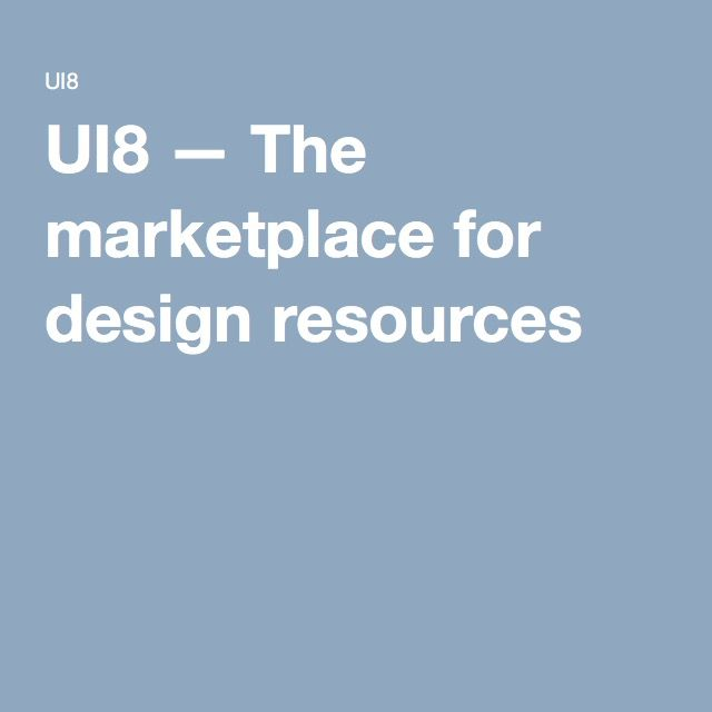 UI8 — The marketplace for design resources
