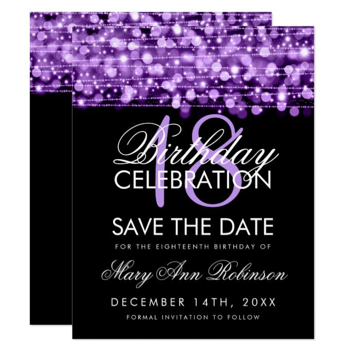 18th birthday save the date party