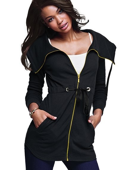 French Terry anorak with drawstring waist: Secret Summer, Spring Jackets, Lights Jackets, Victoria Secret, Terry Anorak, Anorak Victoriassecret, Coats And Jackets, Favorite Fashion, French Terry